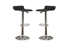 Wholesale Interiors Baxton Studio Vita Black Faux Leather Modern Bar Stool (Set of 2)