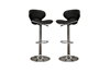 Wholesale Interiors Baxton Studio Orion Black Faux Leather Modern Bar Stool (Set of 2)