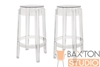 Wholesale Interiors Baxton Studio Bettino Clear Acrylic Counter Stool Set of 2