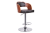 Wholesale Interiors Baxton Studio Sitka Walnut and Black Modern Bar Stool