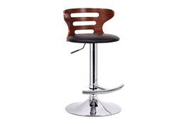 Baxton Studio Buell Walnut and Black Modern Bar Stool Buell Walnut and Black Modern Bar Stool, wholesale furniture, restaurant furniture, hotel furniture, commercial furniture