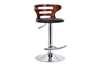 Wholesale Interiors Baxton Studio Buell Walnut and Black Modern Bar Stool
