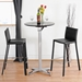 Baxton Studio Black Leather Bar Stool (Set of 2) - ALC-1822A-75 Black