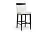Wholesale Interiors Baxton Studio Clymene Black Wood and Cream Leather Modern Bar Stool