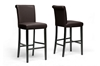Wholesale Interiors Baxton Studio Bianca Brown Modern Bar Stool (Set of 2)
