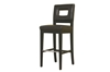 Wholesale Interiors Baxton Studio Faustino Dark Brown Leather Barstool