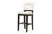 Baxton Studio Faustino Cream Leather Barstool - Y-780-155