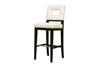 Wholesale Interiors Baxton Studio Faustino Cream Leather Barstool