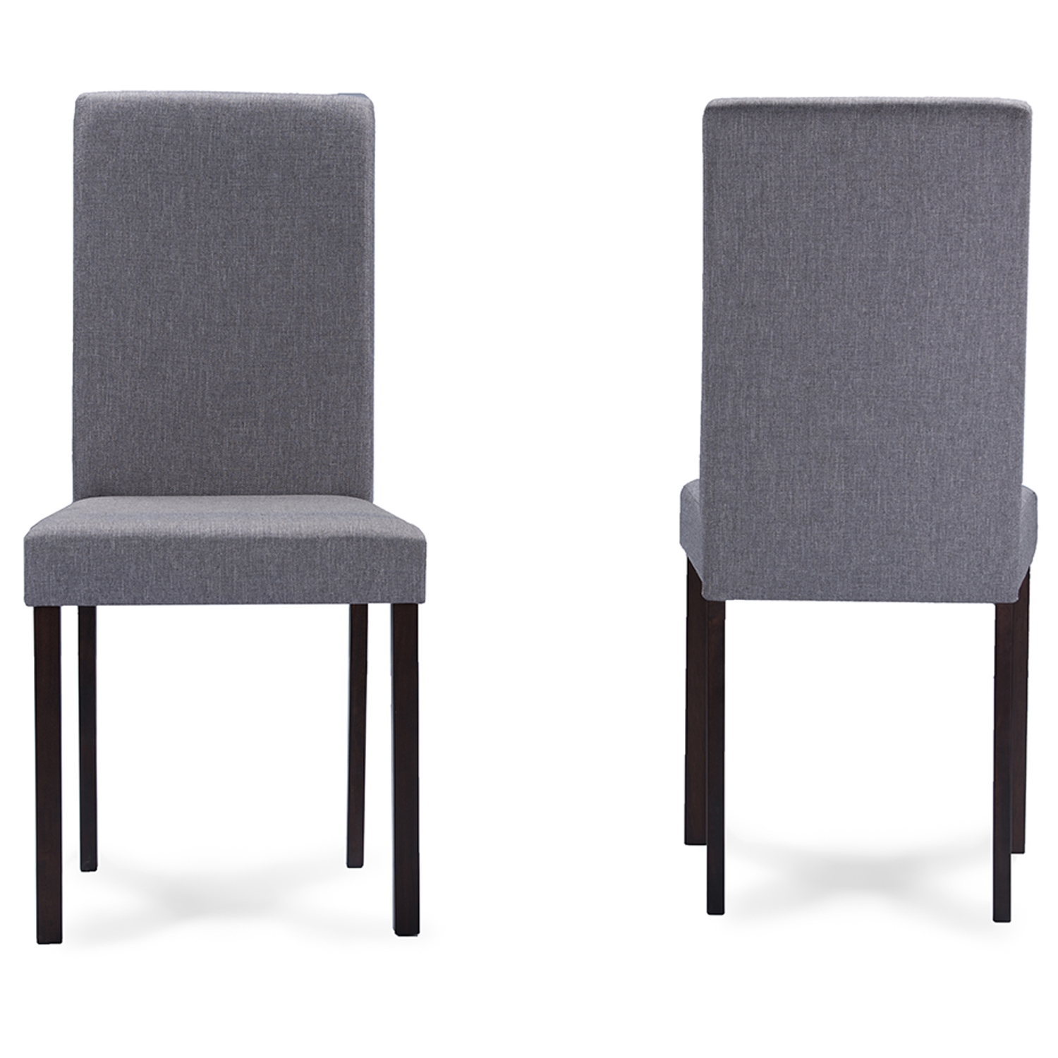 ... Baxton Studio Andrew Contemporary Espresso Wood Grey Fabric Dining Chair    Andrew Dining Chair Grey ...