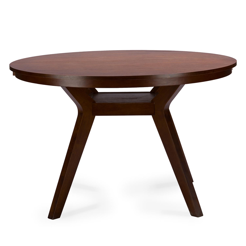 mid century expandable dining table. Baxton Studio Flamingo Mid-Century Dark Walnut Wood 5PC Dining Set - RT348-326 Mid Century Expandable Table