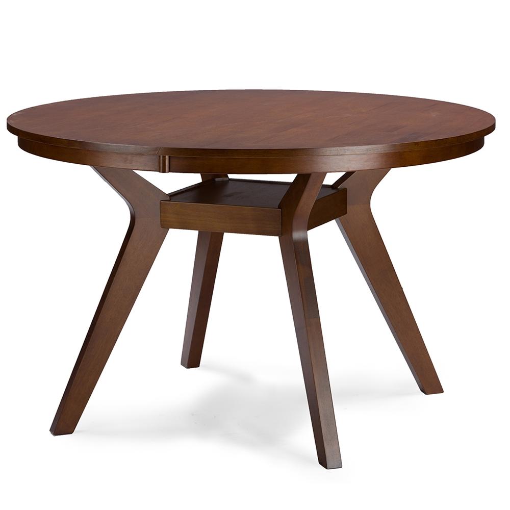 Baxton Studio Flamingo Mid Century Dark Walnut Wood 5pc Dining Set Rt348 326