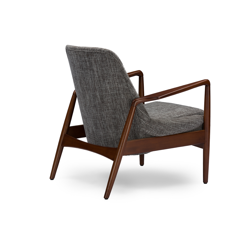 ... Baxton Studio Carter Mid Century Modern Retro Grey Fabric Upholstered  Leisure Accent Chair In Walnut ...