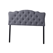 Baxton Studio Rita Modern and Contemporary Queen Size Grey Fabric Upholstered Button-tufted Scalloped Headboard Baxton Studio Rita Modern and Contemporary Queen Size Grey Fabric Upholstered Button-tufted Scalloped Headboard , wholesale furniture, restaurant furniture, hotel furniture, commercial furniture