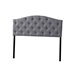 Baxton Studio Myra Modern and Contemporary Full Size Grey Fabric Upholstered Button-tufted Scalloped Headboard - BBT6505-Grey-Full HB