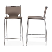 Baxton Studio Montclare Modern and Contemporary Taupe Bonded Leather Upholstered Modern Counter Stool Baxton Studio restaurant furniture, hotel furniture, commercial furniture, wholesale bar furniture, wholesale bar stools, wholesale counter height, classic bar stools