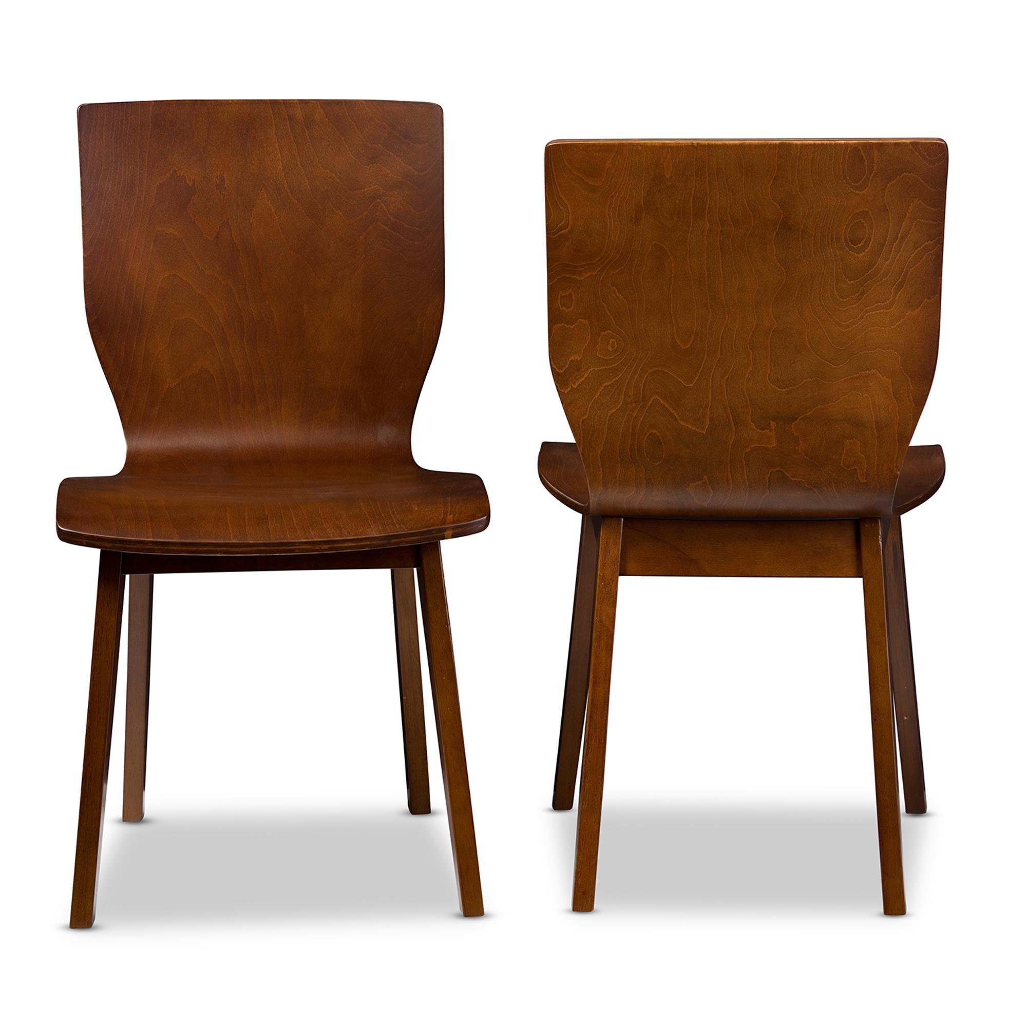 ... Baxton Studio Elsa Mid Century Modern Scandinavian Style Dark Walnut Bent  Wood Dining Chair ...