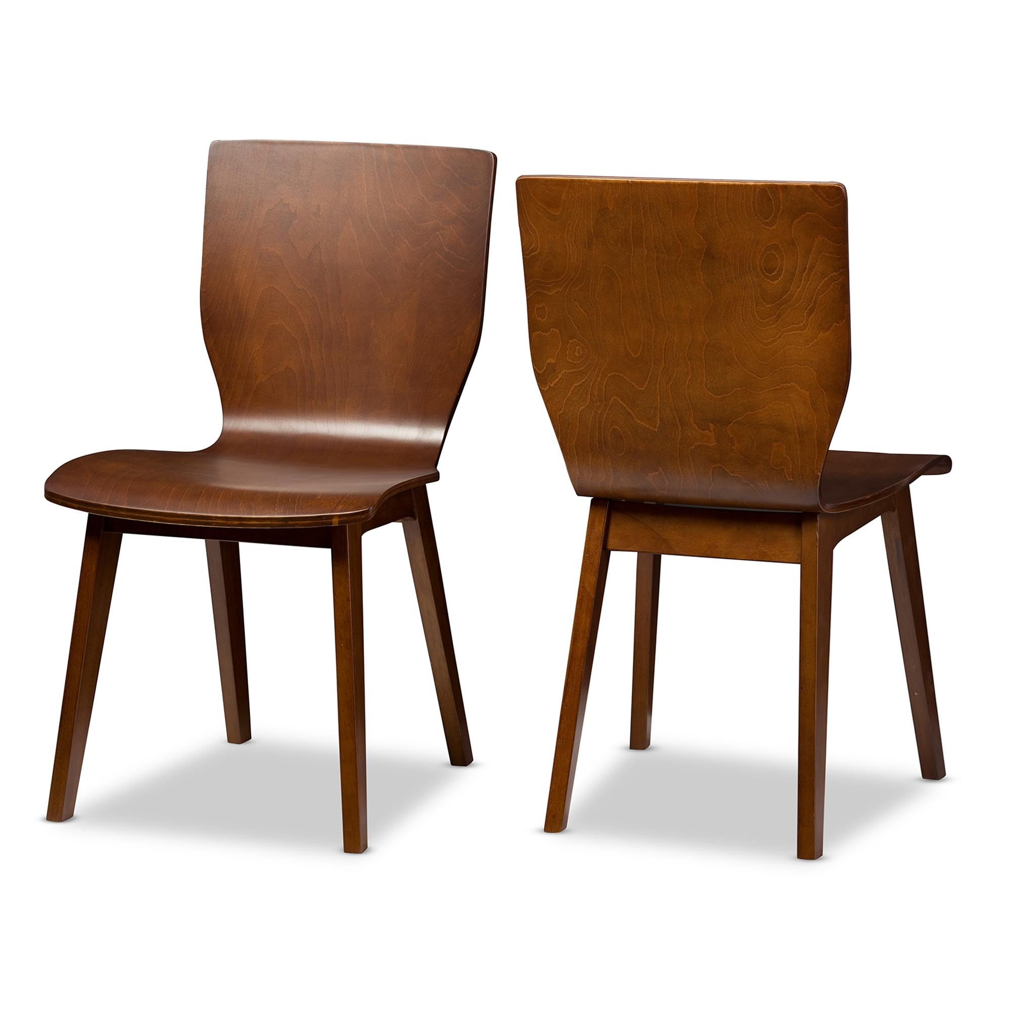 midcentury modern dining chairs. baxton studio elsa mid-century modern scandinavian style dark walnut bent wood dining chair midcentury chairs