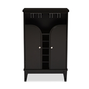 Baxton Studio Easton Modern and Contemporary Dark Brown Wood Modern Dry Bar and Wine Cabinet Baxton Studio restaurant furniture, hotel furniture, commercial furniture, wholesale dining room furniture, wholesale wine cabinets, classic wine cabinets