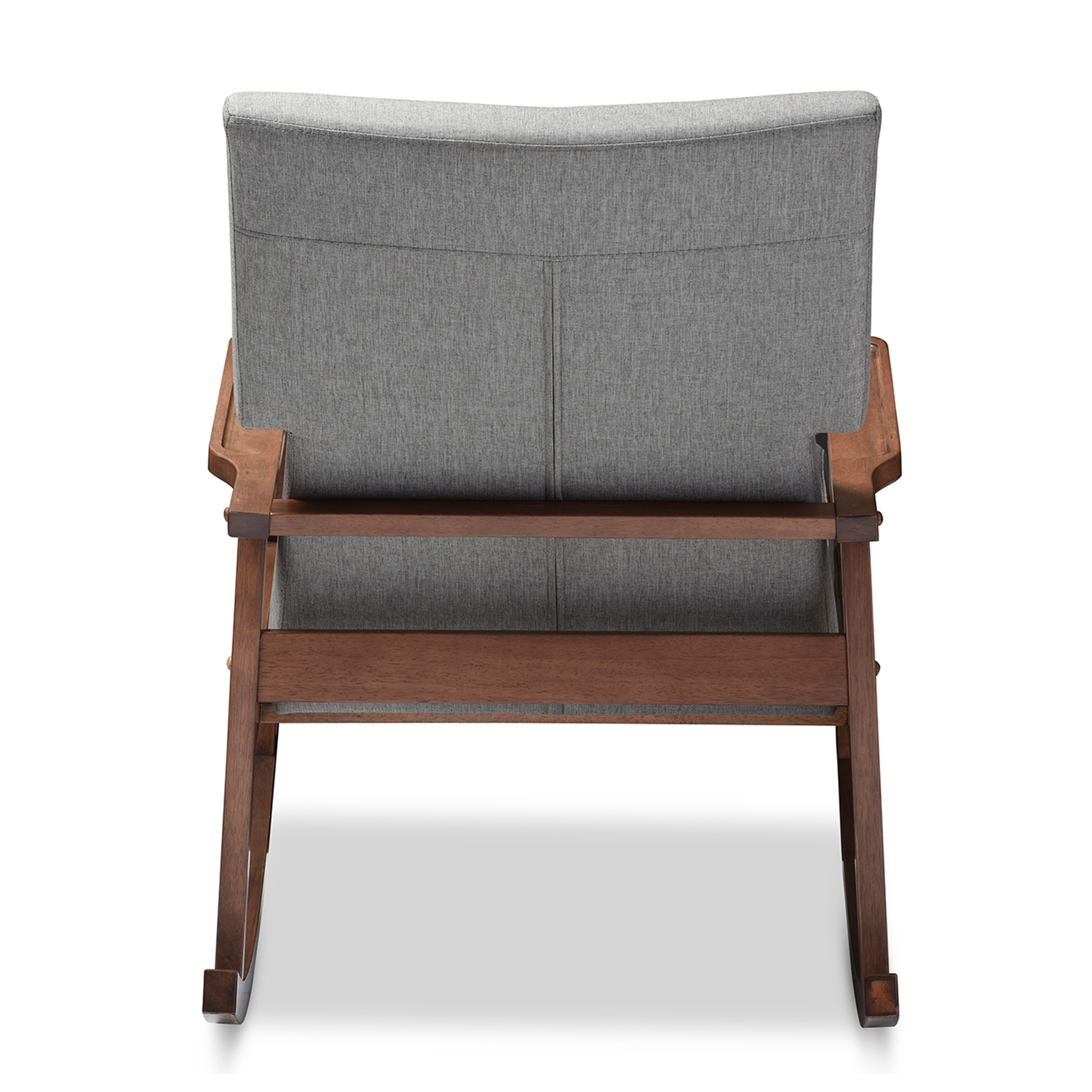 ... Baxton Studio Agatha Mid Century Modern Grey Fabric Upholstered  Button Tufted Rocking Chair ...