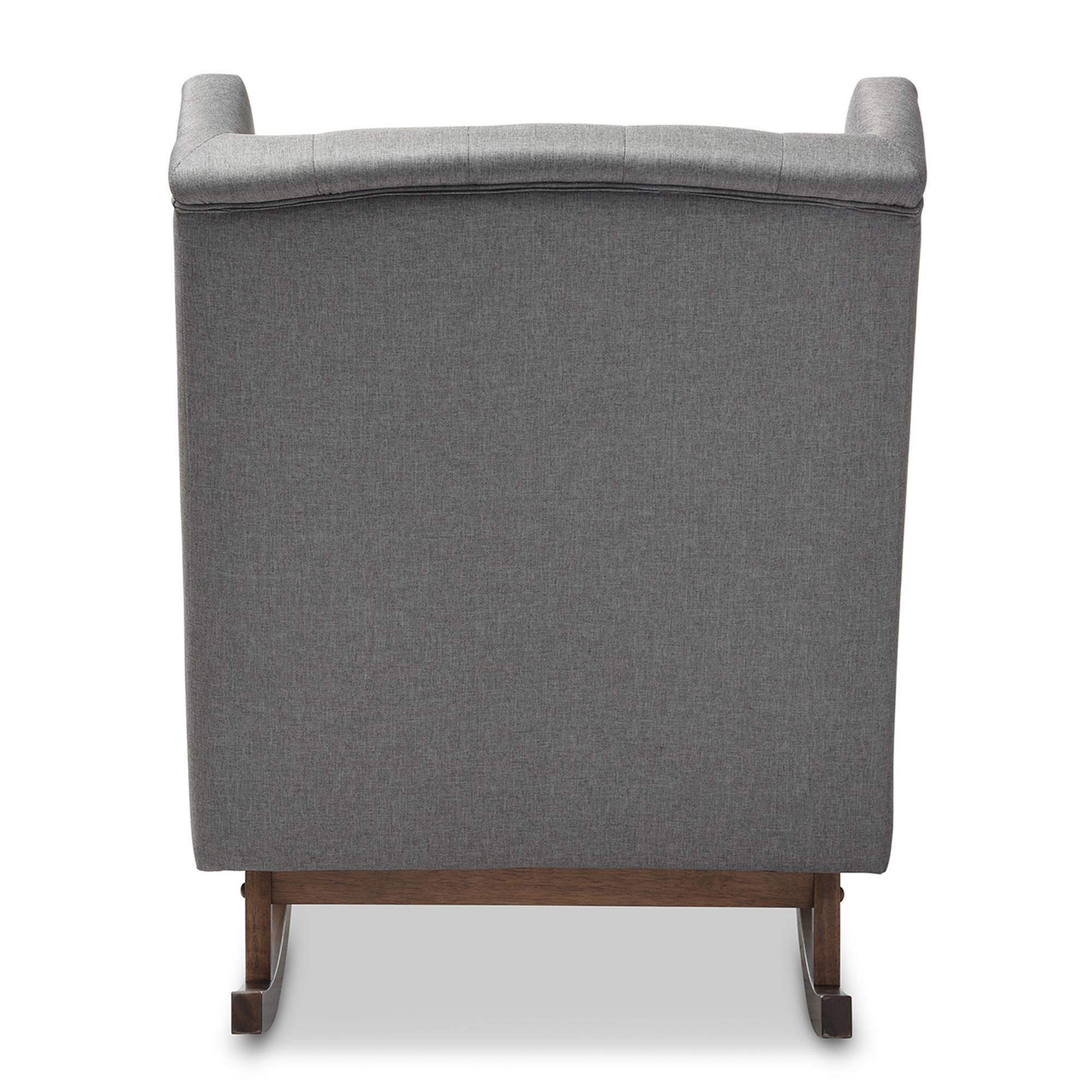 baxton studio iona mid century retro modern. Baxton Studio Iona Mid-century Retro Modern Grey Fabric Upholstered Button-tufted Wingback Rocking Mid Century S