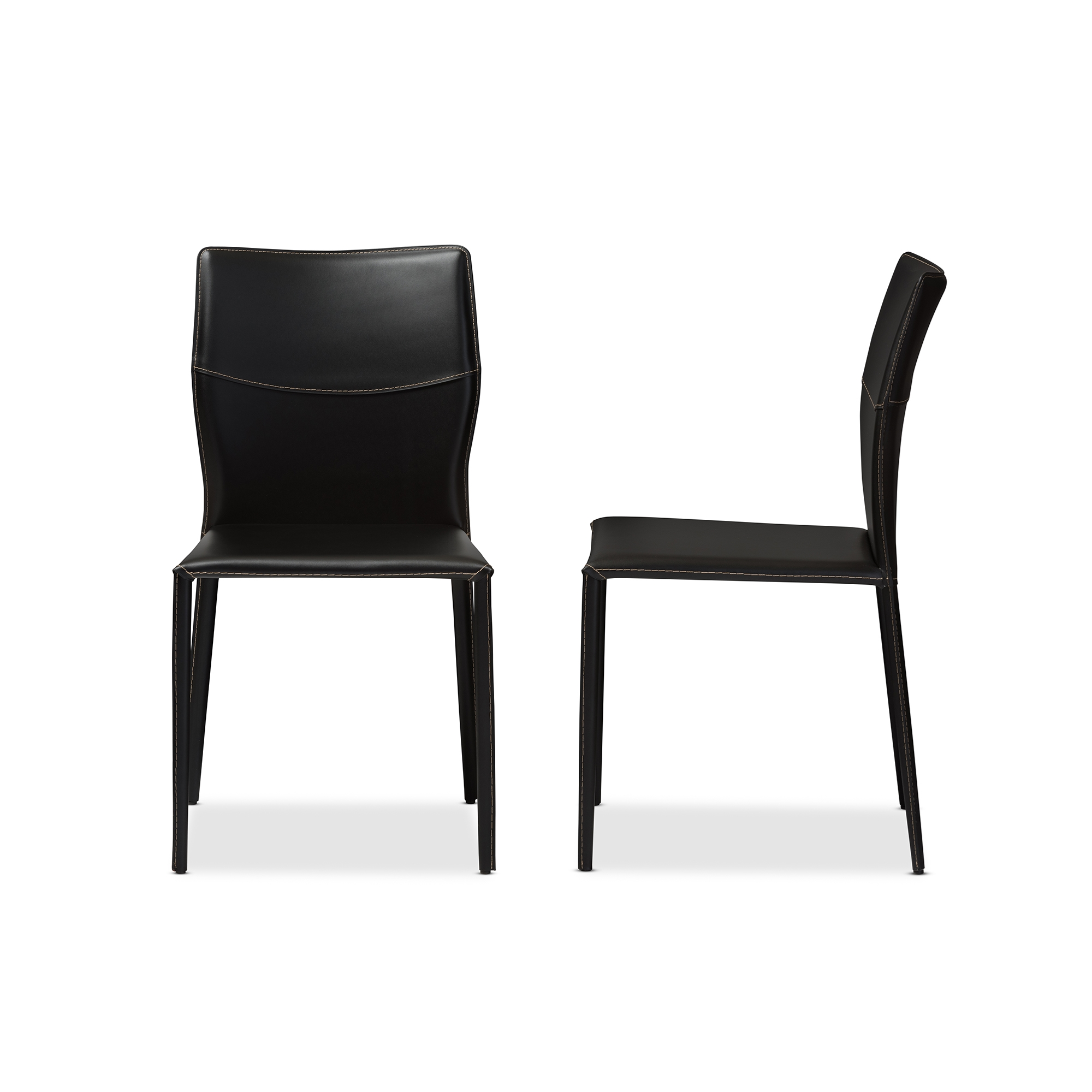 Nice Baxton Studio Asper Modern And Contemporary Black Leather Upholstered Dining  Chair   ALC 1503  ...
