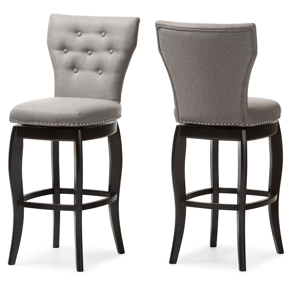 Swivel Espresso Bar Stool Set Of 2 Amazon Com 29 Swivel
