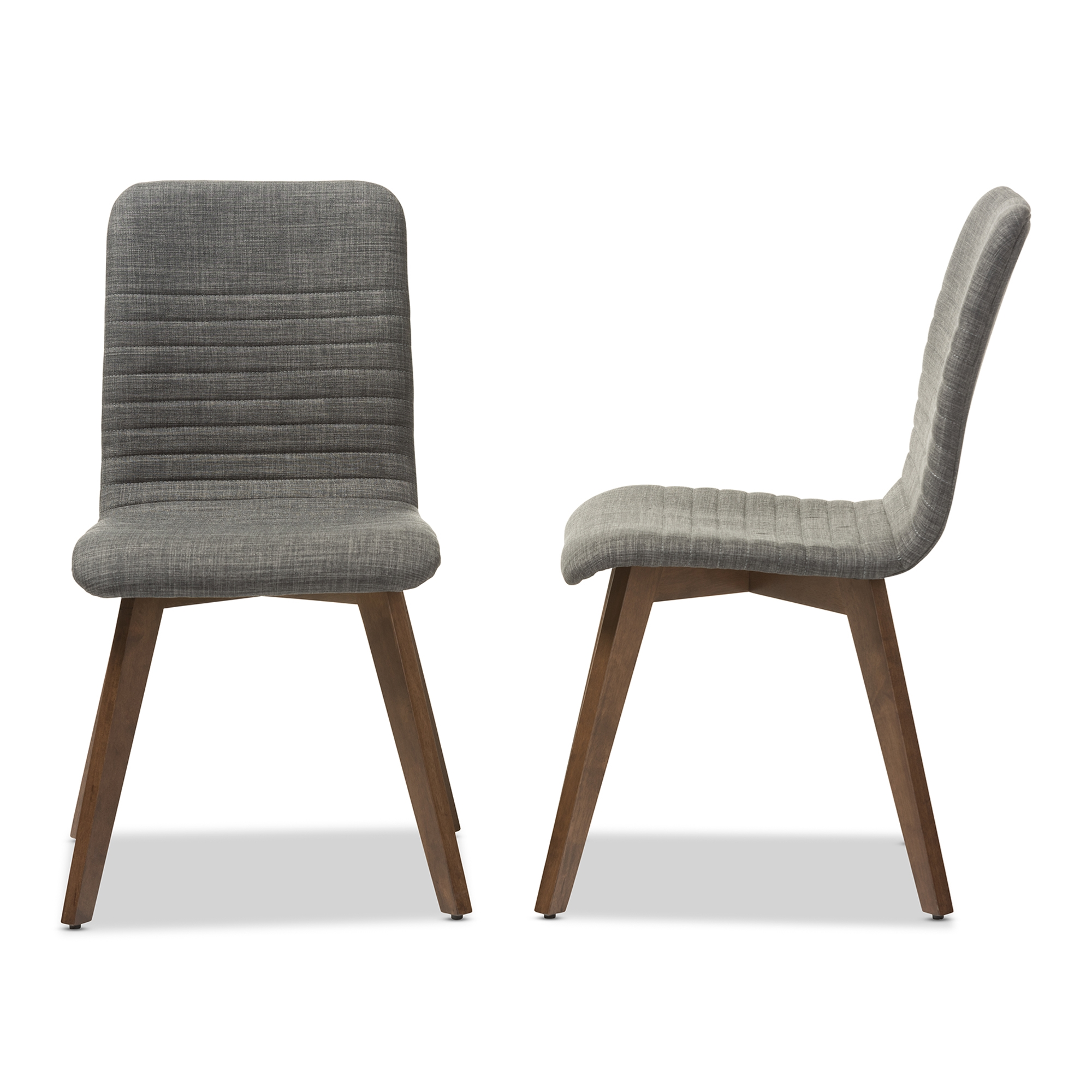 Retro modern furniture 60 Retro Baxton Studio Sugar Midcentury Retro Modern Scandinavian Style Dark Grey Fabric Upholstered Walnut Wood Treehugger Wholesale Dining Chairs Wholesale Dining Room Furniture