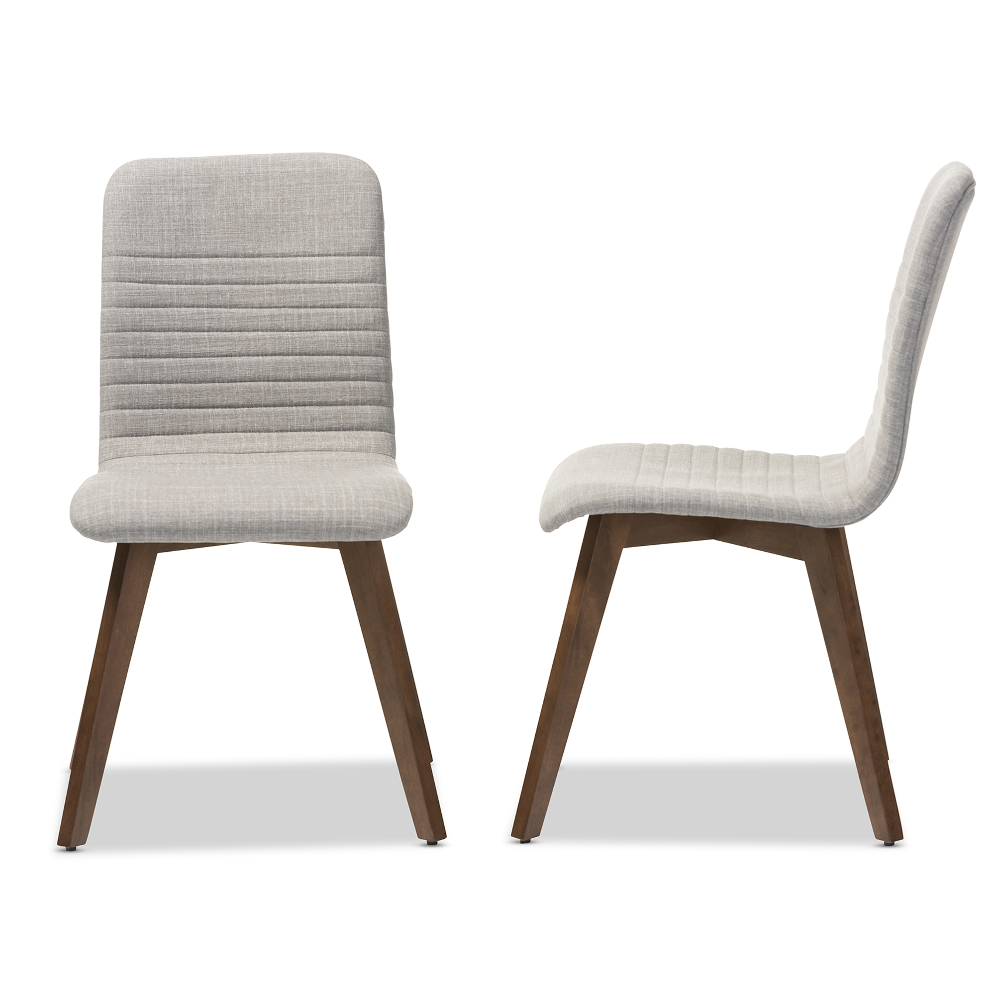 ... Dining Chairs U003e Wholesale Wood U003e. Baxton Studio Sugar Mid Century Retro  Modern Scandinavian Style Light Grey Fabric Upholstered Walnut Wood ...