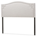 Baxton Studio Aubrey Modern and Contemporary Greyish Beige Fabric Upholstered King Size Headboard - BBT6563-Greyish Beige-King HB