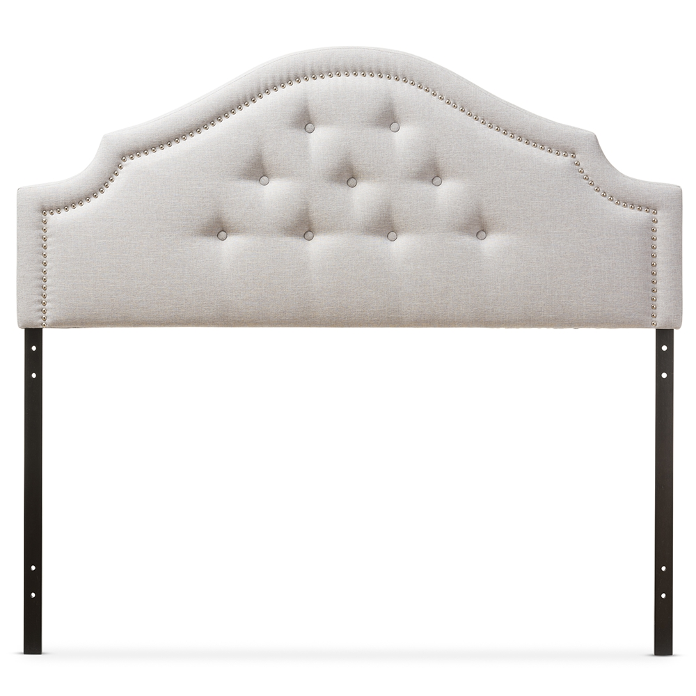 Baxton Studio Cora Modern And Contemporary Greyish Beige Fabric Upholstered Queen Size Headboard Bbt6564