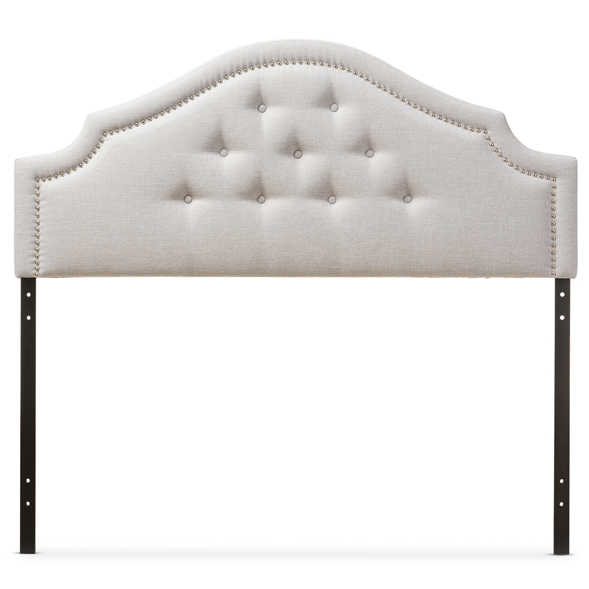 Baxton Studio Cora Modern And Contemporary Greyish Beige Fabric Upholstered  Queen Size Headboard   BBT6564  ...