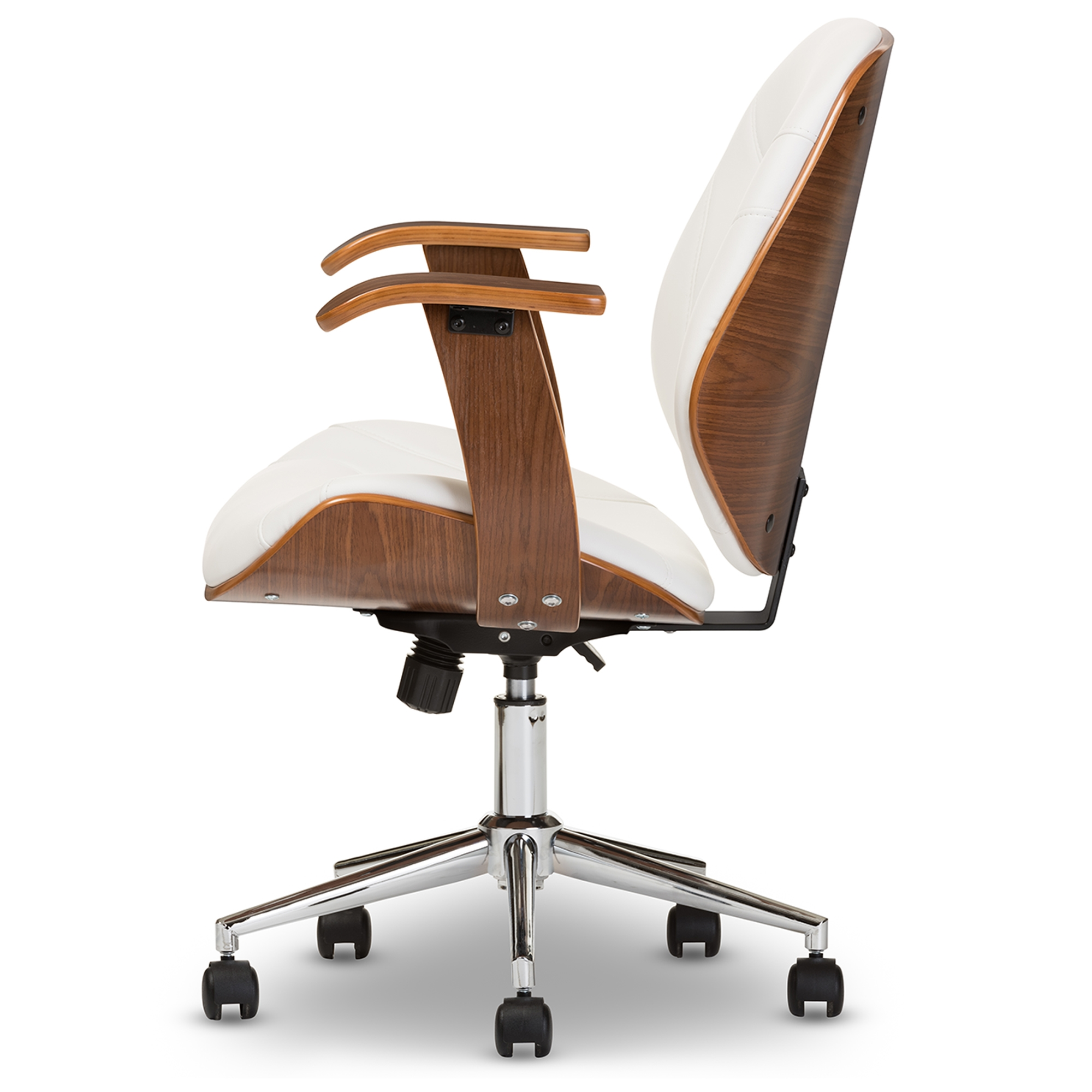white walnut office furniture. Baxton Studio Rathburn Modern And Contemporary White Walnut Office Chair - SD-2235- Furniture