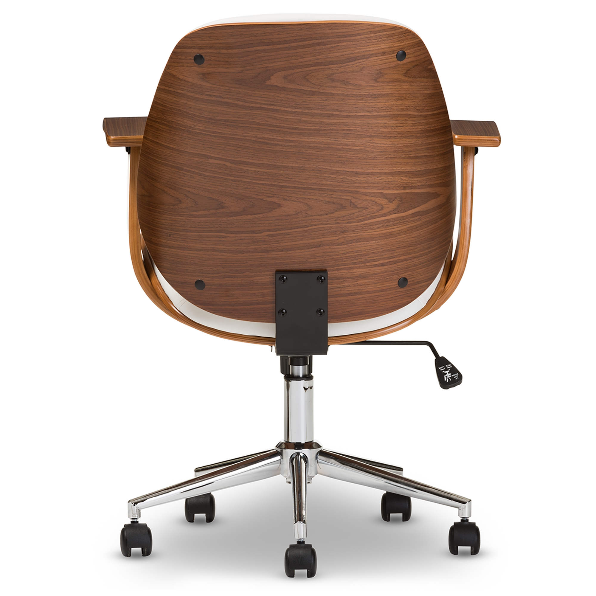 ... Baxton Studio Rathburn Modern And Contemporary White And Walnut Office  Chair   SD 2235  ...