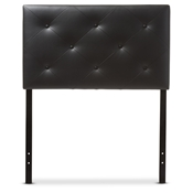 Baxton Studio Baltimore Modern and Contemporary Black Faux Leather Upholstered Twin Size Headboard Baxton Studio restaurant furniture, hotel furniture, commercial furniture, wholesale bedroom furniture, wholesale headboards, classic twin size headboards