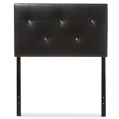 Baxton Studio Kirchem Modern and Contemporary Black Faux Leather Upholstered Twin Size Headboard Baxton Studio restaurant furniture, hotel furniture, commercial furniture, wholesale bedroom furniture, wholesale headboards, classic twin size headboards