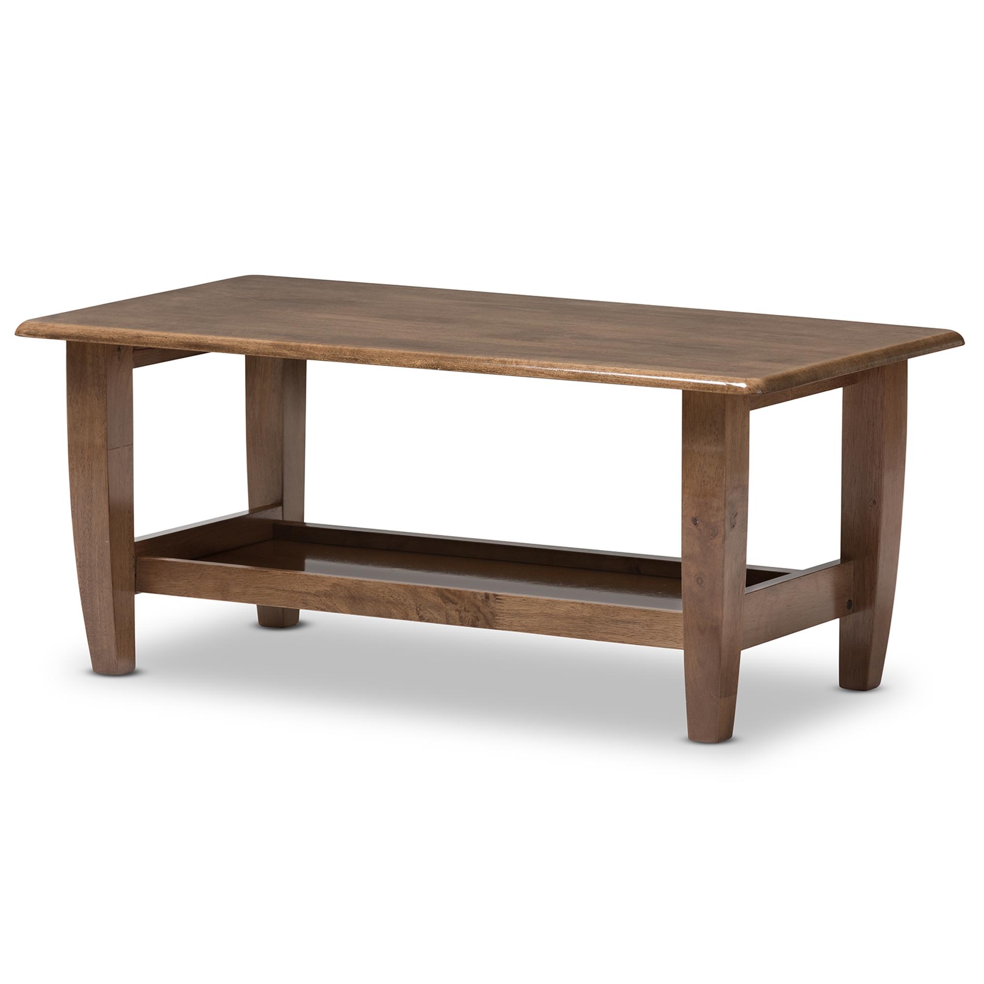 ... Baxton Studio Pierce Mid Century Modern Walnut Finished Brown Wood Coffee  Table   SW3656  ...