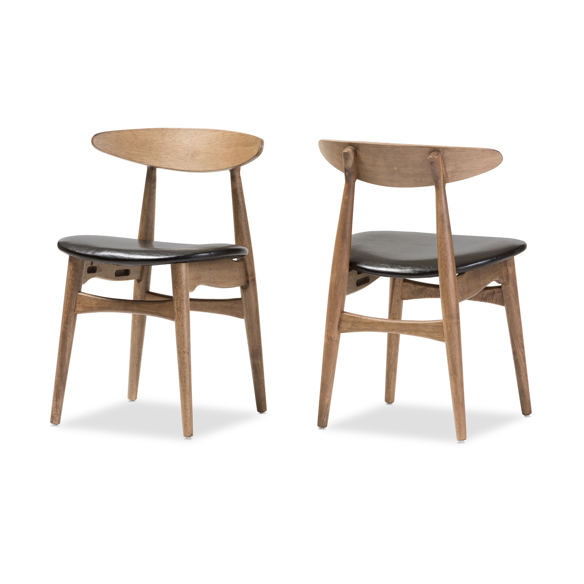 faux leather restaurant dining chairs. baxton studio edna mid-century modern french black faux leather and \ restaurant dining chairs h