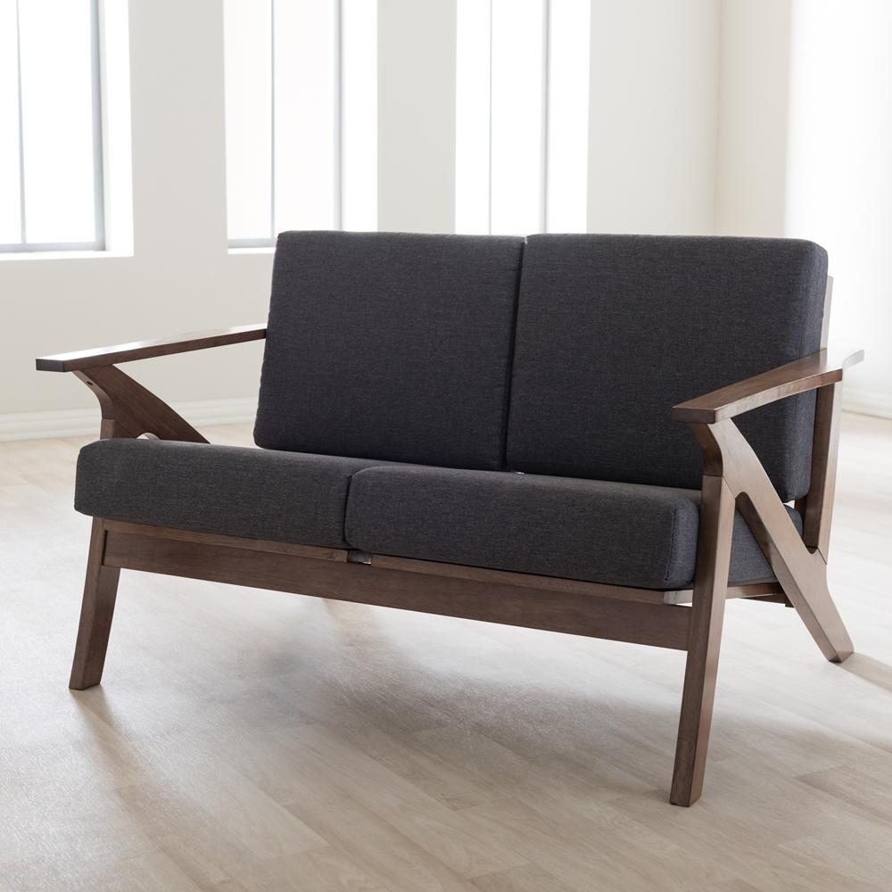 x black wood mahogany by series lounge reception loveseat alera