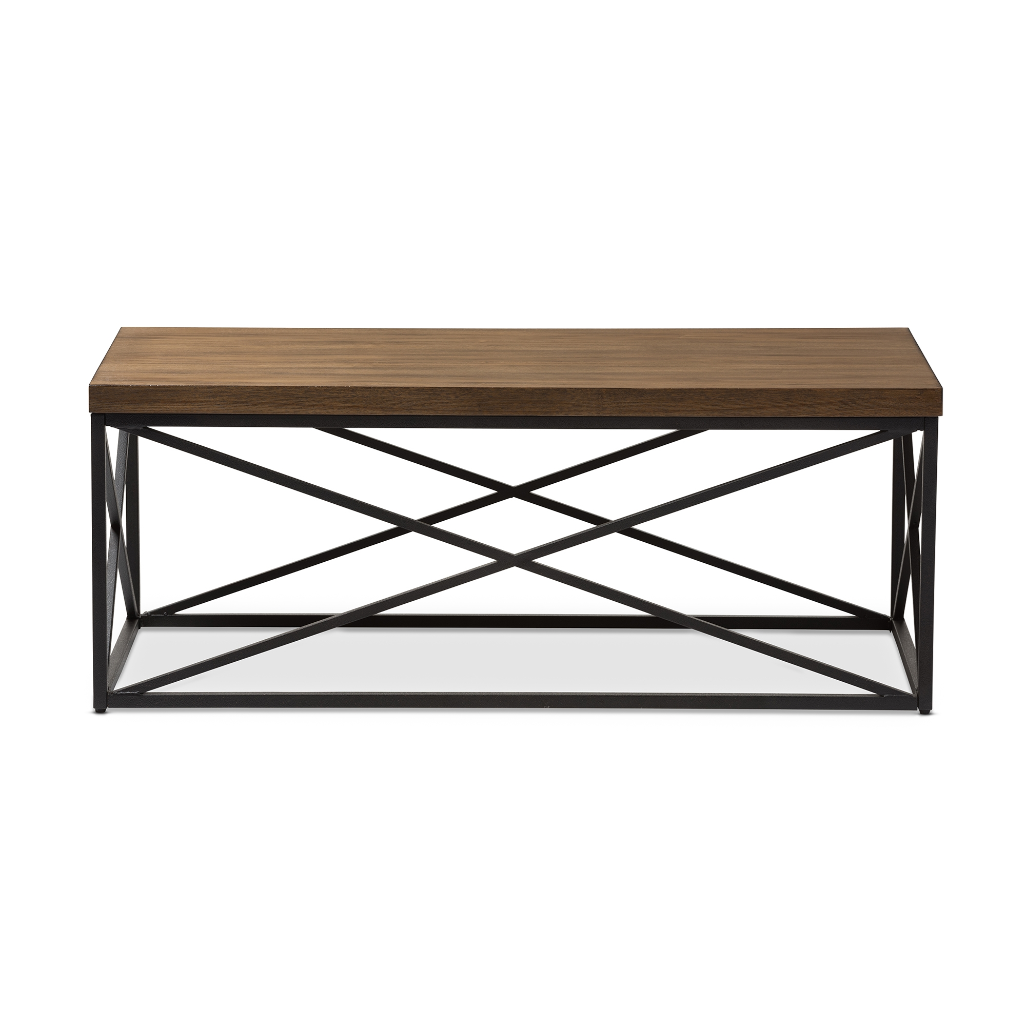 ... Baxton Studio Holden Vintage Industrial Antique Bronze Coffee Cocktail  Table   YLX 2692 CT ...
