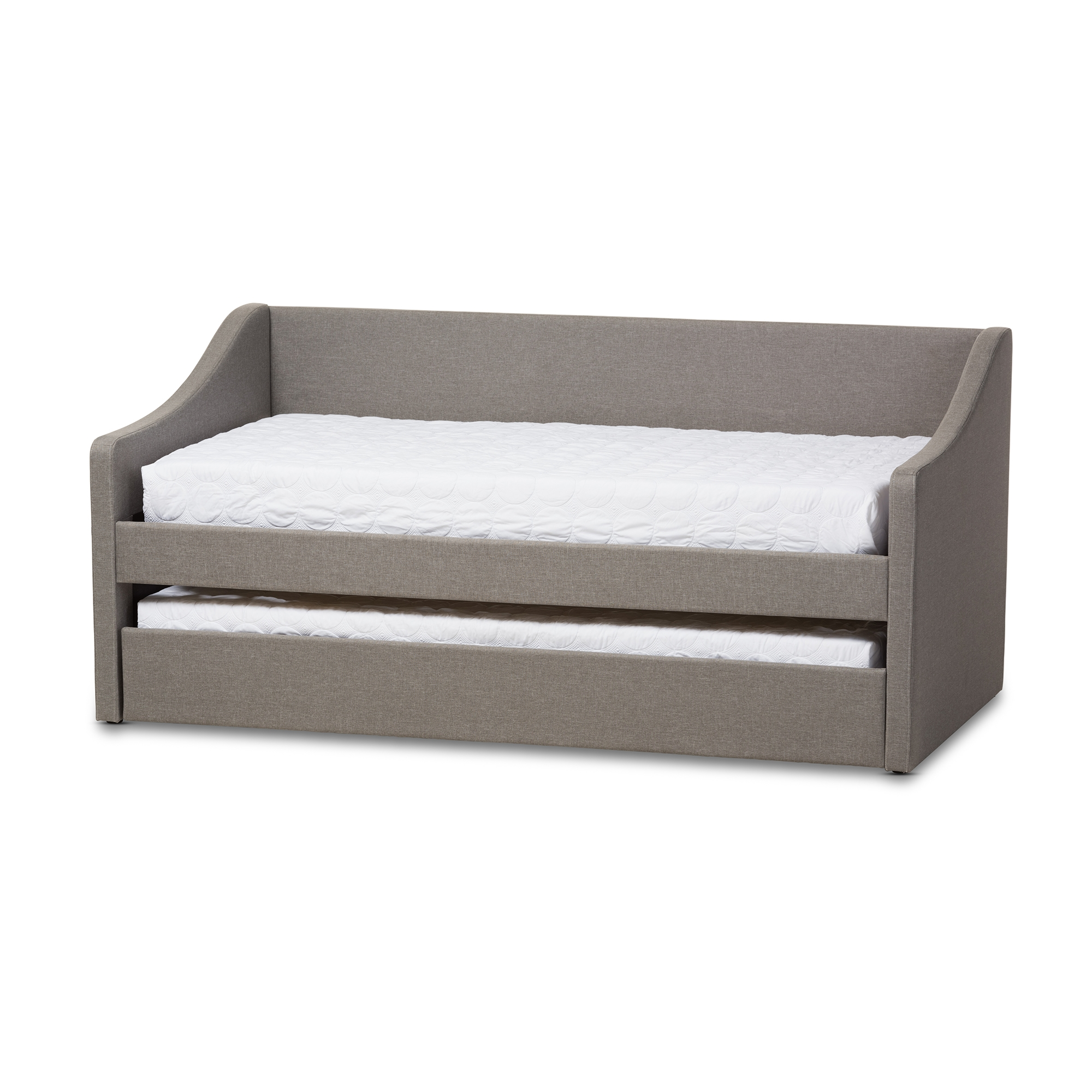 Baxton Studio Barnstorm Modern And Contemporary Grey Fabric Upholstered  Daybed With Guest Trundle Bed   CF8755 ...