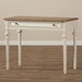 Baxton Studio Marquetterie French Provincial Weathered Oak and Whitewash Writing Desk - PRL5VM(AR)/M B