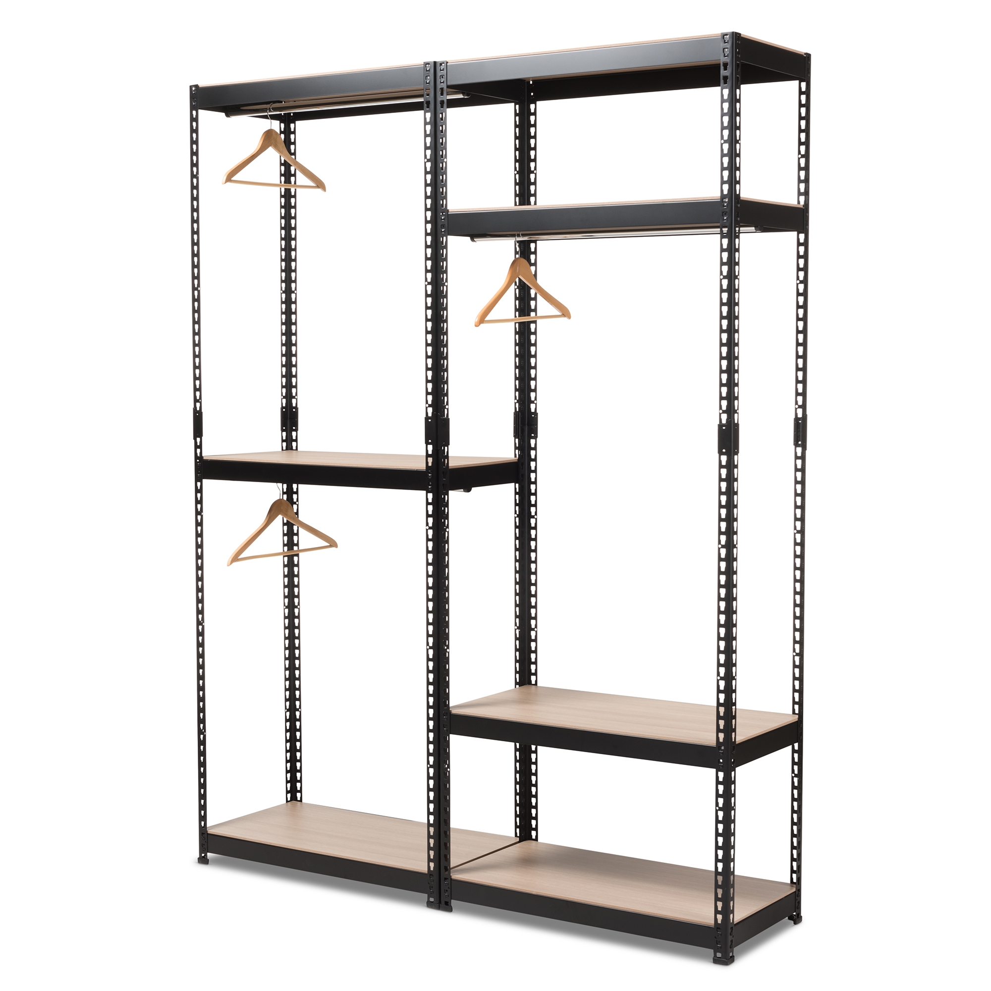Etonnant ... Baxton Studio Gavin Black Metal 7 Shelf Closet Storage Racking  Organizer   BH06/BH09 ...