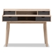 Baxton Studio Fella Mid-Century Modern 4-Drawer Oak and Grey Wood Study Desk - SESD610-Hana Oak/Dark Grey-Desk