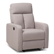 Baxton Studio Garland Modern And Contemporary Light Brown Fabric Power Recliner Armchair Baxton Studio restaurant furniture, hotel furniture, commercial furniture, wholesale living room furniture, wholesale arm chair , classic arm chair