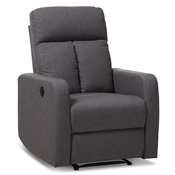 Baxton Studio Garland Modern And Contemporary Grey Fabric Power Recliner Armchair Baxton Studio restaurant furniture, hotel furniture, commercial furniture, wholesale living room furniture, wholesale arm chair , classic arm chair