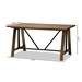Baxton Studio Nico Rustic Industrial Metal and Distressed Wood Adjustable Height Work Table - YLX-5011-Desk
