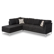Baxton Studio Richie Modern And Contemporary Two-Tone Dark Grey And Steel 2-Piece Sofa Sectional Baxton Studio restaurant furniture, hotel furniture, commercial furniture, wholesale living room furniture, wholesale sectional sofa