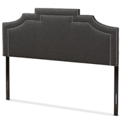 Baxton Studio Deena Modern and Contemporary Dark Grey Fabric Full Size Headboard Baxton Studio restaurant furniture, hotel furniture, commercial furniture, wholesale bedroom furniture, wholesale headboards, classic full headboards