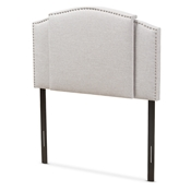 Baxton Studio Allenna Modern and Contemporary Greyish Beige Fabric Twin and Full Size Expandable Headboard Baxton Studio restaurant furniture, hotel furniture, commercial furniture, wholesale bedroom furniture, wholesale headboards, classic twin full headboards