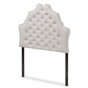 Baxton Studio Hilda Modern and Contemporary Greyish Beige Fabric Twin Size Headboard Baxton Studio restaurant furniture, hotel furniture, commercial furniture, wholesale bedroom furniture, wholesale headboards, classic twin headboards